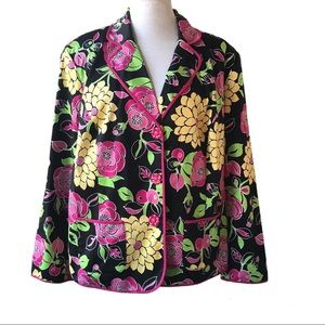 NY Collection Woman  Floral Print Jacket Size 1X